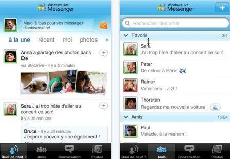 microsoft MSN iPhone 1 m AppStore   Windows Live Messenger est disponible gratuitement sur lAppStore