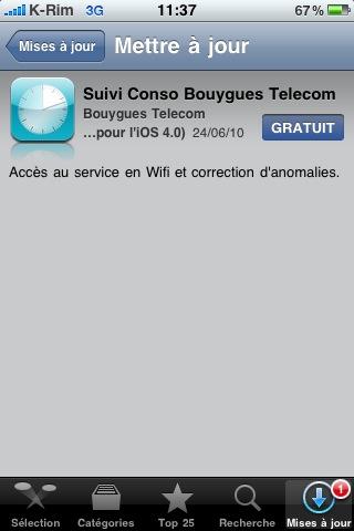 photo 2 AppStore   Bouygues met à jour son application du suivi conso