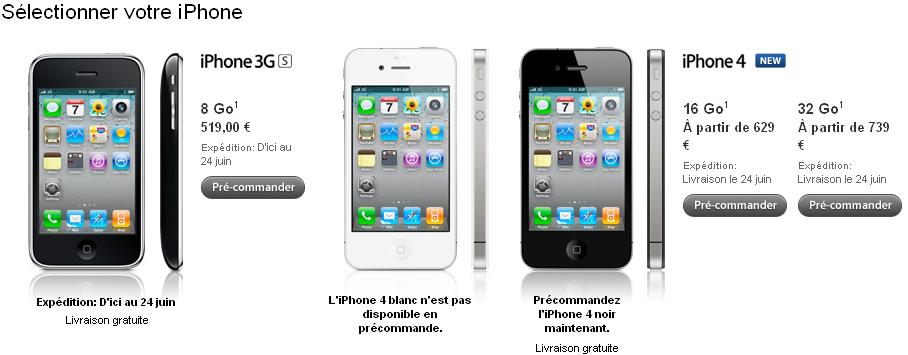 precommande News   LiPhone 4 disponible en pré commande [EDIT]