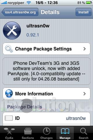 ultrasn0wios41 Jailbreak   UltraSn0w mis à jour : compatibilité avec liOS 4