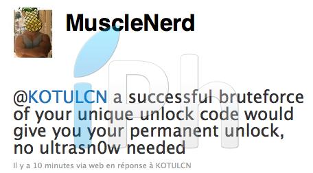 111 Jailbreak News   MuscleNerd : Ultrasn0w permettra dobtenir le code de désimlockage
