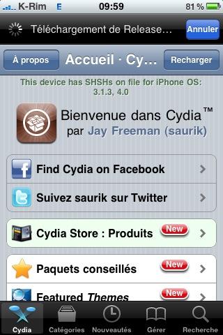 Cydia Jailbreak News    Spirit pour iOS 4 sera publié avant la sortie de liOS 4.1 [EDIT]