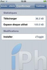 IMG 0003 160x240 Cydia   zToogle : un soft vous permettant dactiver/désactiver les fonctionnalités de liOS 4