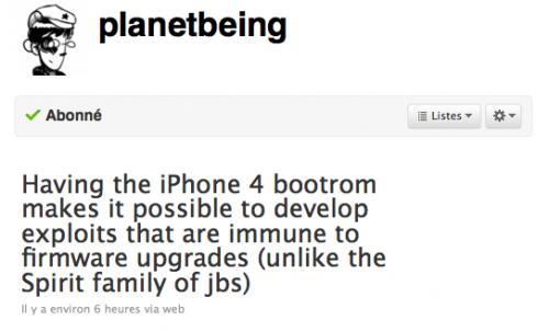 Jailbreak iPhone 4 500x303 Jailbreak   Un jailbreak total pour liPhone 4 ?