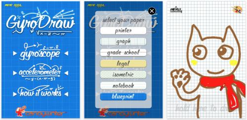 Schermata 2010 07 10 a 22.46.42 500x244 AppStore   Gyro Draw : dessinez avec le gyroscope de liPhone 4