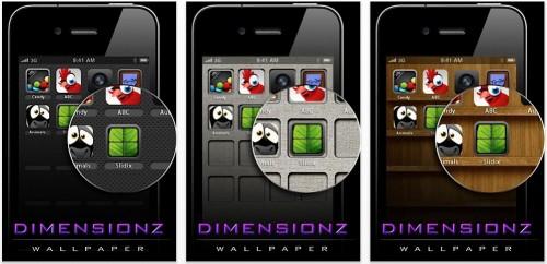 Schermata 2010 07 17 a 13.52.29 500x242 AppStore   Dimensionz Wallpapers : Une application de Wallpapers pour iPhone