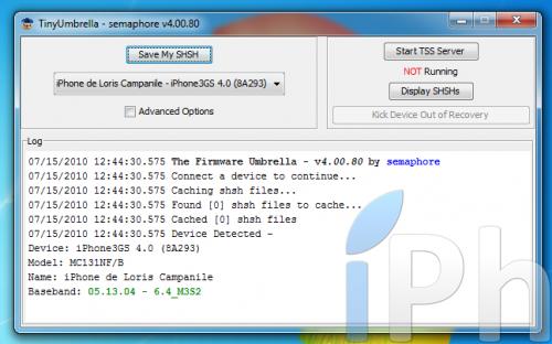 Screen 2010 07 15 à 12.44.58 500x312 Tutoriel   Sauvegarder votre ECID en 4.0 [Windows   Mac   Linux]