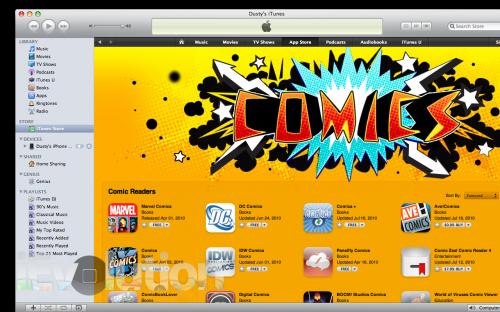 Screen shot 2010 07 20 at 7.09.44 PM copy 500x312 News   Apple ajoute la catégorie «Comics» à l'AppStore