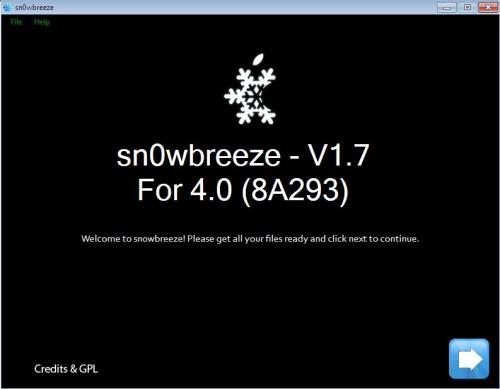 Snow 500x389 Tutoriel   Sn0wBreeze 1.7 : Jailbreak iOS 4 iPhone 3GS iPod Touch 2G MC / 3G sous 3.1.2