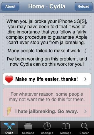 cydia lecid file est nouveau L 4 News   Apple met en place un système de sécurité sur iPhone 3G et iPod Touch 2G