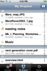 drop11 160x241 AppStore   DropBox 1.2.3 : Stocker vos fichiers en ligne gratuitement