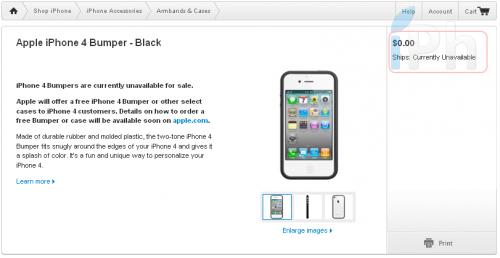 free bumper iph 500x258 News   iPhone 4 : Bumper offert sur lApple Store US