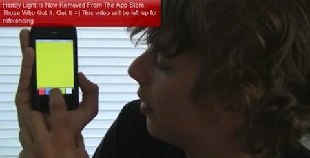 handylight AppStore   Handy light : une application aux easter egg [Vidéo]