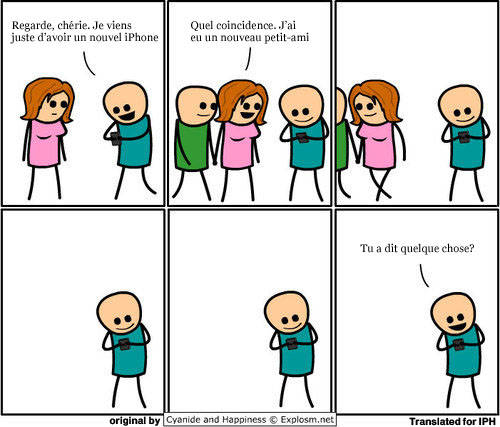 humour Humour   iPhone 4 : laddiction en BD