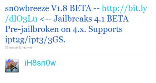 icona1 500x266 Jailbreak News   IH8Sn0w publie Sn0wBreeze 1.8 : un jailbreak pour le firmware 4.1 beta 1