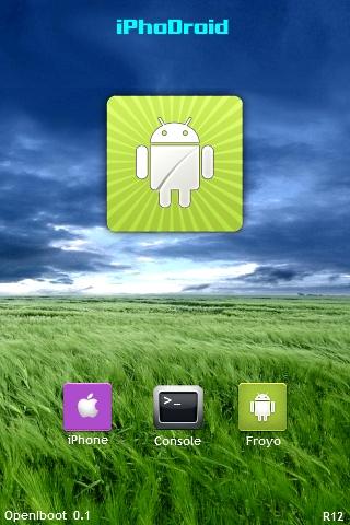 iphodroidr12 News   iPhoDroid 0.6 bêta R12 : Compatible Froyo 2.2 et iOS 4