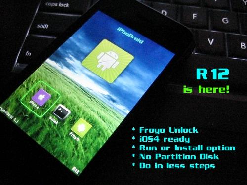 iphodroidr12features News   iPhoDroid 0.6 bêta R12 : Compatible Froyo 2.2 et iOS 4