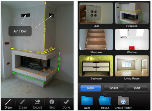 misurescreen 500x365 AppStore   My Measures & Dimensions : Schématiser avec liPhone