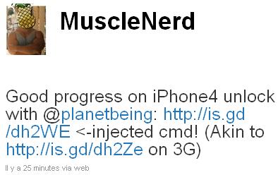 muscle bb Jailbreak News   Le désimlockage de liPhone 4 progresse vite (MuscleNerd)