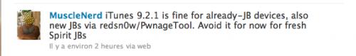 muscle new twit1 500x79 News   iTunes 9.2.1 ne pose aucun problème aux outils de jailbreak