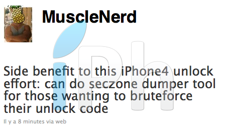 musclenerd unlock code Jailbreak News   MuscleNerd : Ultrasn0w permettra dobtenir le code de désimlockage