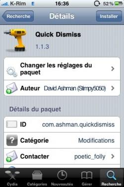 push1 250x375 Cydia   Quick Dismiss 1.1.3 : masquer une popup dun seul geste