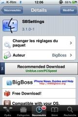 sbsettings 1 160x240 Cydia   SBSettings : Mise à jour en 3.1.0 1