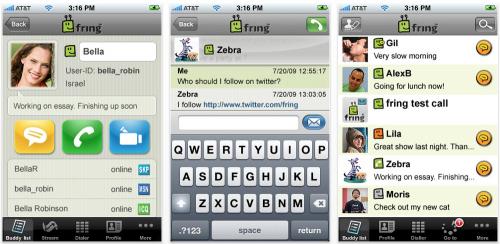 screenshots fring 500x244 AppStore   Fring : Passer des appels vidéos en 3G depuis liPhone 4