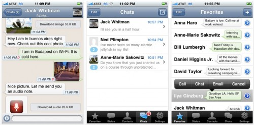whatsapp 500x246 AppStore   WhatsApp Messenger 2.5.7 : Supporte le multitâche de liOS 4