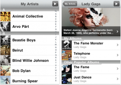 15 AppStore   My Artists : Obtenez toutes les infos de vos artistes préférés