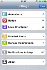21 Cydia   Notified Pro : Mise à jour en 1.3