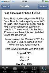 22 Cydia   FaceTime Mod : Améliorez la fluidité de FaceTime