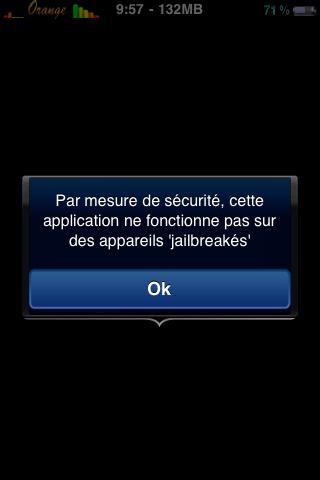 2edtu7k Jailbreak News   Certaines applications de lAppStore commencent à refuser le Jailbreak