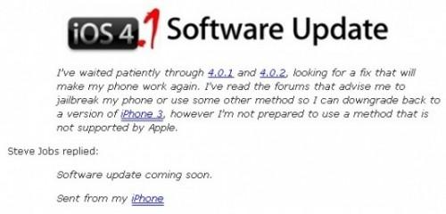 3g1 550x264 500x240 News   Steve Jobs confirme : une mise à jour de liOS 4 pour iPhone 3G arrive