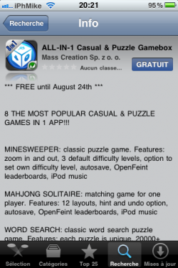 IMG 0017 250x375 Promo AppStore Free   8 in 1 Casual & Puzzle Gamebox gratuit jusquà demain