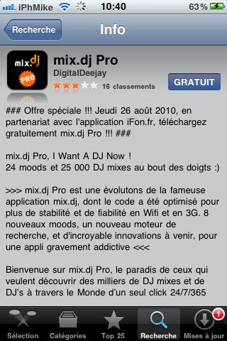IMG 00391 Promo AppStore free   Mix.DJ Pro Gratuit pour la journée