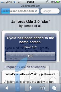IMG 0415 250x375 Tutoriel   JailbreakMe iOS 4 iPhone 3G / 3GS / 4 iPod Touch 2G / 3G et iPad 3.2 / 3.2.1 par Comex [VIDEO][MAJ]