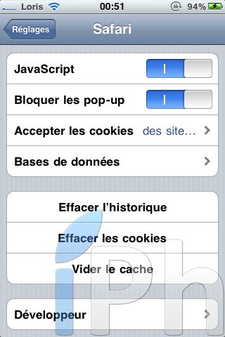 IMG 0423 Tutoriel   JailbreakMe iOS 4 iPhone 3G / 3GS / 4 iPod Touch 2G / 3G et iPad 3.2 / 3.2.1 par Comex [VIDEO][MAJ]