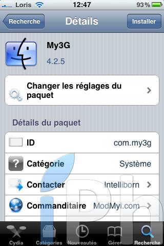 IMG 0453 Tutoriel   Comment avoir My3G et MyWi compatible iOS 4 crackée