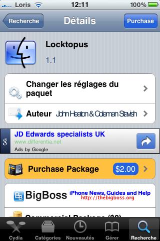 IMG 0461 Cydia   Locktopus 1.1 : verrouillez vos applications à laide dun mot de passe