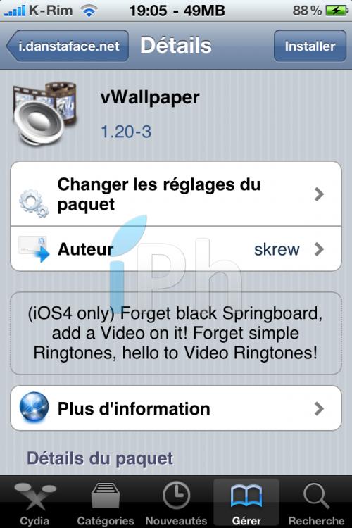 IMG 1150 500x750 Cydia   vWallpaper : Mettre une vidéo en fond décran compatible iPhone 4 et iOS 4