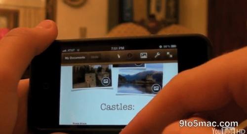 Pages Rumeurs, News   iWork bientôt disponible sur iPhone ? [Vidéo]
