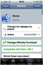 Shrink11 Cydia   Shrink : Réduisez la taille de vos icônes