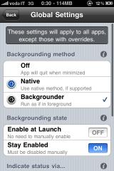 backgrounder2 Cydia    Mise à jour de Backgrounder en version svnr515 beta 2