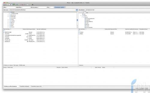 filezilla 500x312 Tutoriel   Débrider le son de son iPad / iPhone / iPod Touch