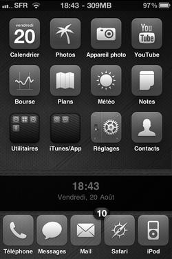 img0068a Themes   GlasklartiPh v1.0  : un thème optimisé pour iPhone 4