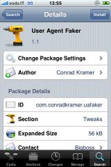 img 0043 Cydia   Mise à jour de User Agent Faker en version 1.1