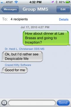 ios4 group messaging iOS 4   Une nouvelle fonctionnalité est apparue : Group Messaging [Vidéo]