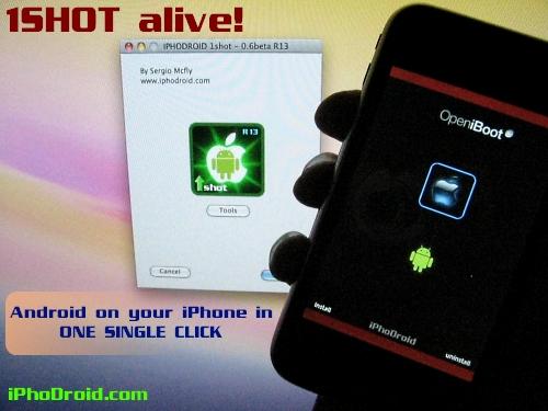 iphodroidishotr13 Tutoriel   iPhoDroid 0.6 bêta R13 : installez Android Froyo 2.2 sur iPhone V1 / 3G