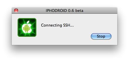 iphodroidssh Tutoriel   iPhoDroid 0.6 bêta R12 : installez Android Froyo 2.2 sur iPhone 3G